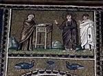 Ravenna, sant'apollinare nuovo, int., storie cristologiche, epoca di teodorico 10.jpg