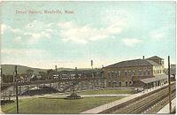 Readville Depot Square 1911 postcard.jpg
