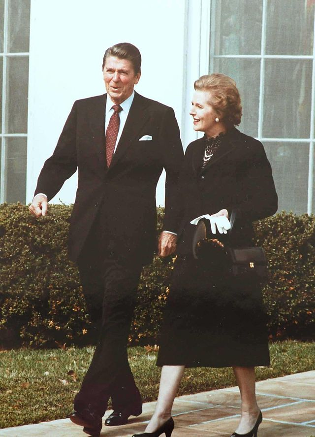 Reagan Thatcher; The saints of neoliberalism. Bill Clinton just put a Democratic Party face on it, From WikimediaPhotos