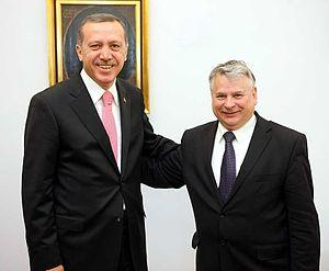 Bogdan Borusewicz - Marshal Bogdan Borusewicz with then-Turkish Prime Minister Recep Tayyip Erdoğan