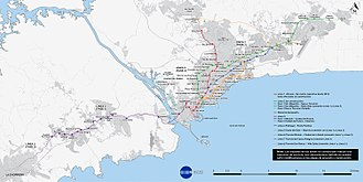 Panama Metro - The map of the National Master Plan