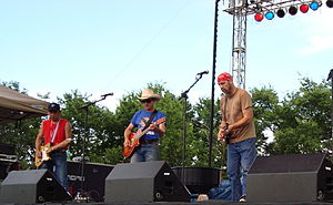Red Dirt (music) - The Red Dirt Rangers (Ben Han, Brad Piccolo, John Cooper) performing at the Woody Guthrie Folk Festival. July 12, 2008.