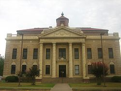 The Red River Parish Courthouse is located in Coushatta, Louisiana.