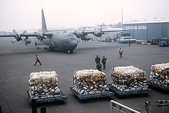 435th Operations Group - 435th Wing C-130E Hercules at Luxembourg International Airport