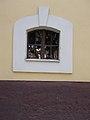 Reformed church, window, 2017 Hajdúnánás.jpg