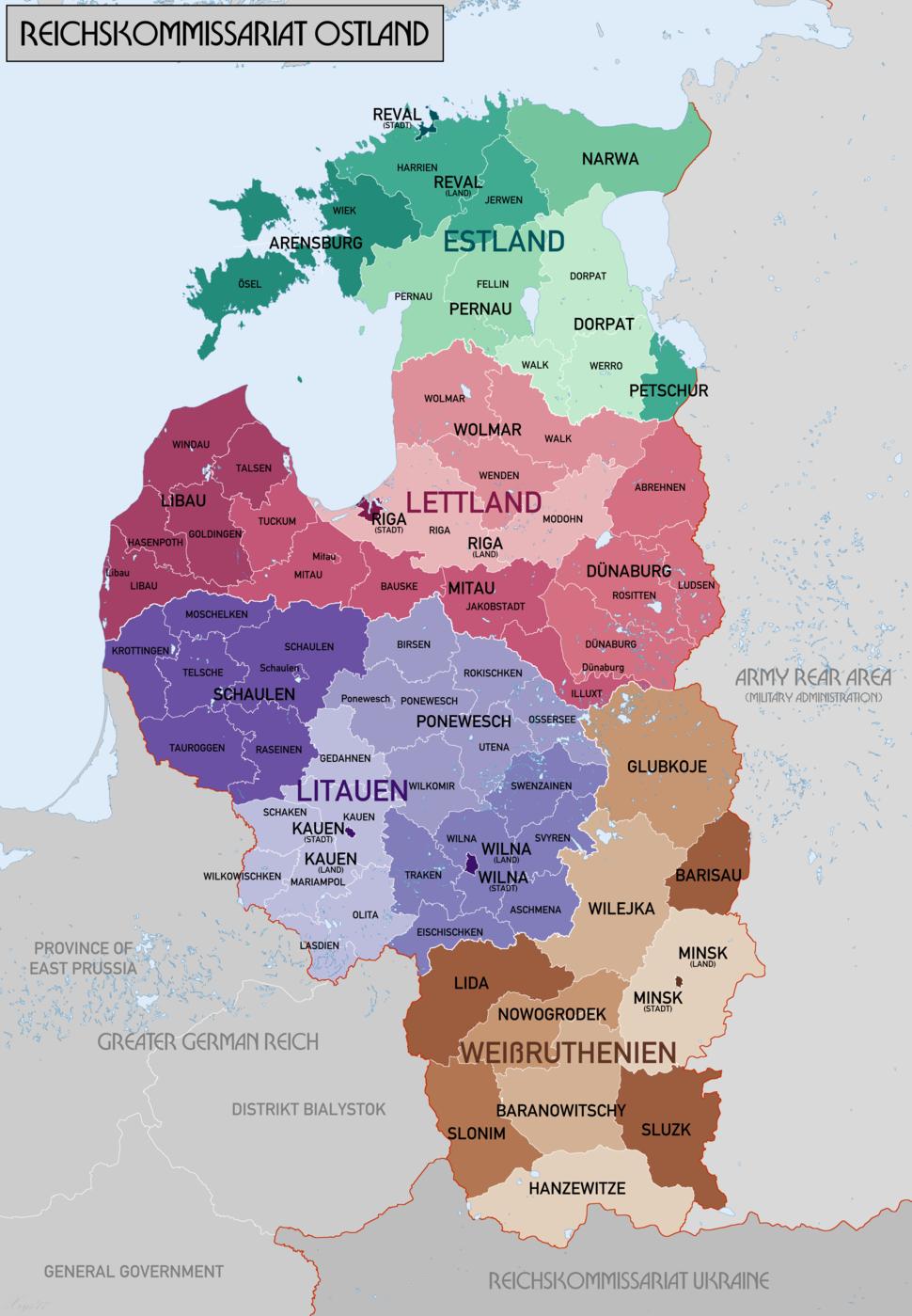 Reichskommissariat Ostland Administrative
