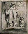Relief of Jeffery Hudson, a dwarf, and Walter Parsons, a gia Wellcome V0007342EL.jpg