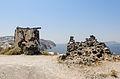 Remains of a windmill at the crater rim near Akrotiri - Santorini - Greece - 05.jpg