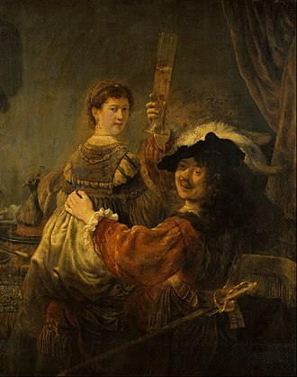 Rembrandt - The Prodigal Son in the Tavern, a self-portrait with Saskia, c. 1635