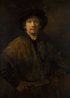<i>Self-Portrait</i> (Rembrandt, Vienna) painting by Rembrandt, 1652, Vienne