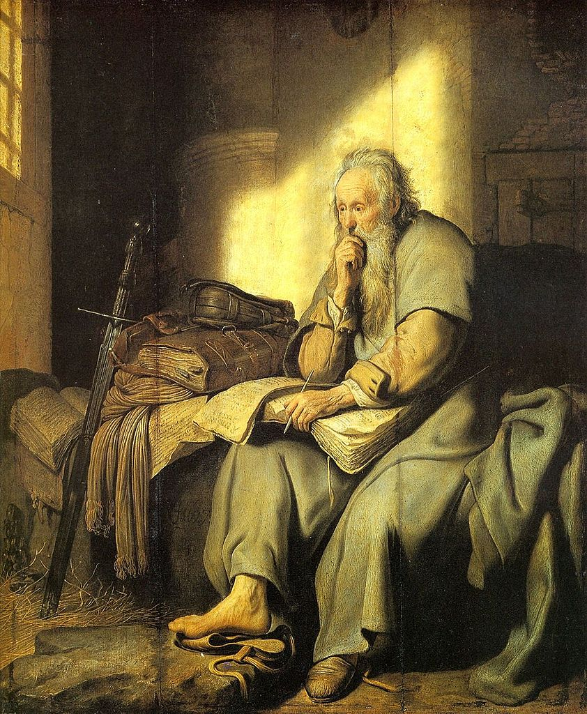 Rembrandt - St. Paul in Prison (Wikipedia)