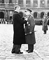 René Pleven, Minister of National Defence of France, decorates Marshal Papagos, Prime Minister of Greece.jpg