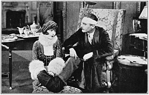 Renée Adorée - Suzette (Renée Adorée) makes the tedious hours of the wounded Sir Nicholas Thormonde (Lew Cody) seem less monotonous. A scene from Elinor Glyn's production Man and Maid for Metro-Goldwyn-Mayer, 1925
