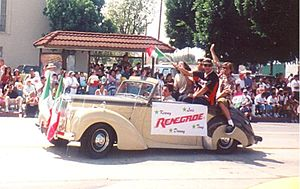 Renegade (band) - Renegade waves to crowds during annual East Los Angeles Parade