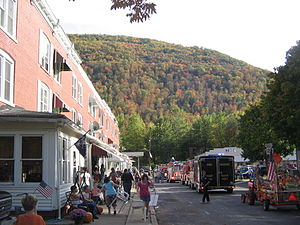 Renovo, Pennsylvania - 14th Street in Renovo, looking south during the Flaming Foliage Festival Parade