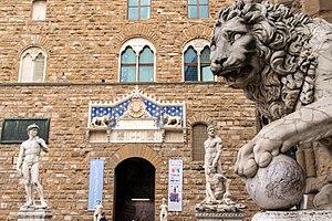 Replica of David, Piazza della Signoria, Florence
