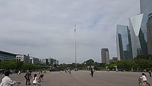 Republic of Korea flag in Yeouido Park, Seoul on May 1st, 2016.jpg