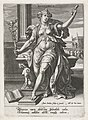 Retorica, Johann Sadeler (I), after Maerten de Vos, Cornelis Cort, and Frans Floris (I), 1560 - 1600, engraving, 15.0 by 10.6 cm.jpg
