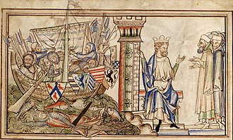House of Godwin - Godwin and his family return by ship to the court of king Edward the Confessor in 1052.  From a 13th-century manuscript of the Vita Ædwardi Regis