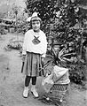 Ribbon, garden, toy, kid, baby carriage Fortepan 2460.jpg