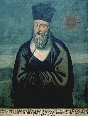 Matteo Ricci - A 1610 Chinese portrait of Ricci