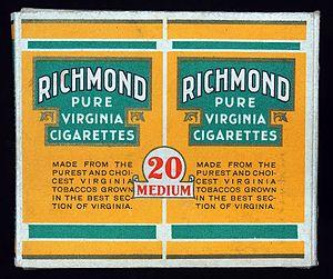 Richmond (cigarette) - Image: Richmond cigarettes pack, pic 1
