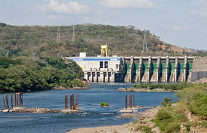 Electricity sector in El Salvador - 15 de Septiembre Hydroelectric dam over the Rio Lempa