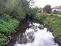 River Crane from Bridge In MEAD WAY Twickenham.jpg