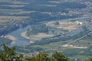 Drina - River island on Drina close to Loznica