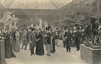 Salon (Paris) - Formally dressed patrons at the Salon in 1890