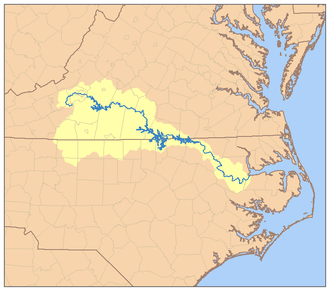 Roanoke River - Image: Roanoke River Watershed
