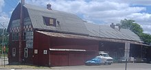 A grain elevator barn in Rochester, Michigan