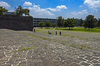 Ciudad Universitaria - Flooring and walls made from the bedrock cut away to build the campus