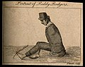 Roddy Rodgers, a man without arms. Etching by J. Basire. Wellcome V0007213.jpg