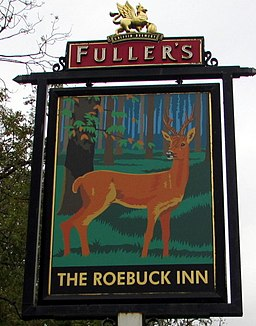 Roebuck Inn name sign, Marlborough (geograph 5568736)
