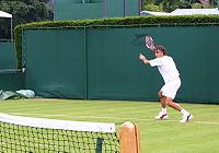 Federer at Wimbledon, 2005.