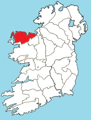 Roman Catholic Diocese of Killala - Image: Roman Catholic Diocese of Killala map
