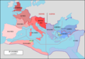Roman Empire with dioceses in 300 AD zh.png