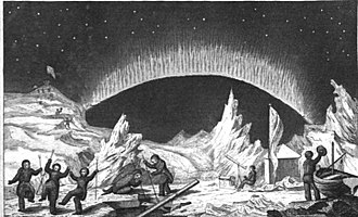 Thomas Abernethy (explorer) - Illustration from 1835 depicting Abernethy's party at the North Magnetic Pole