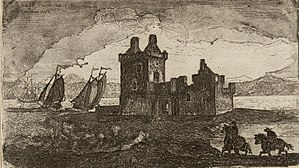 Rosyth Castle - 18th Century engraving of Rosyth Castle