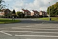 Roundabout on Oak Tree Drive, Gipton (geograph 5169840).jpg