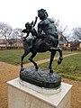 Rudnyánszky mansion. North garden. Statue of Centaur in love, 18th c. - Budapest.JPG