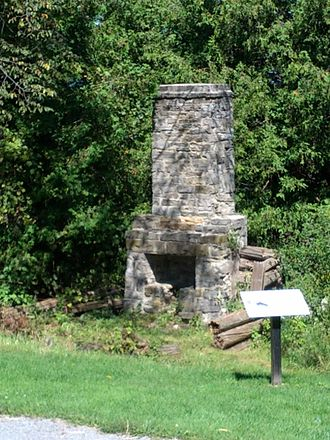 Horaceville, Ottawa - Ruin of Fireplace Pinhey Homestead erected 1825