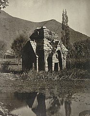 Ruins of a 10th century Hindu temple at Pandrethan near Srinagar Kashmir, 1868 photo.jpg