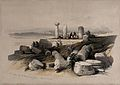 Ruins of an Ionic temple, called Om El Hamed, near Tyre. Col Wellcome V0049480.jpg