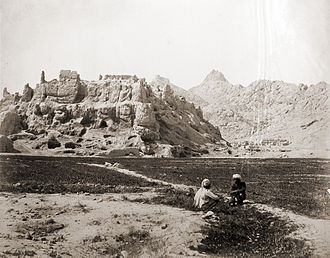 Ahmad Shah Durrani - An 1881 photo showing Shah Hussain Hotak's fortress in Old Kandahar, where Abdali and his brother Zulfikar were imprisoned. It was destroyed in 1738 by the Afsharid forces of Persia.
