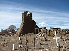 Ruins of original church, Taos Pueblo New Mexico.jpg