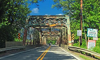 Cochranton, Pennsylvania - Adams Street Bridge over French Creek. This bridge was replaced in late 2015.