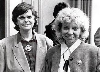 Ruth Dreifuss - Ruth Dreifuss (left) and Christiane Brunner on 8 March 1993