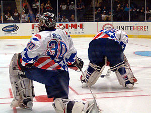 Rochester Americans - Ryan Miller with the Americans in 2005